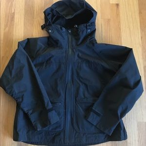 GAP Black Rain wind Coat Jacket with Hood +Pockets